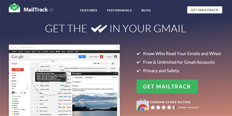 extensiones de chrome MailTrack